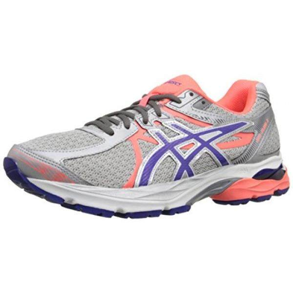 ASICS Womens Gel-Flux 3 Running Shoe, Silver/Blue Berry/Flash Coral, US - intl