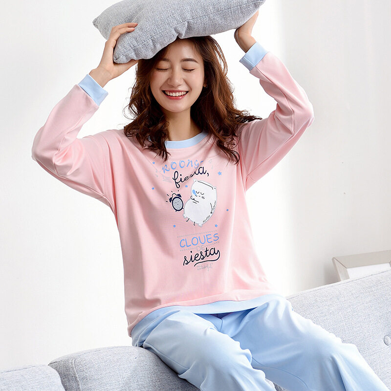 Autumn Winter New Pajama Sets 2017 New Women Pajamas Pants Set Pajamas  Korean Style Casual Fashion 5a52e8f8f
