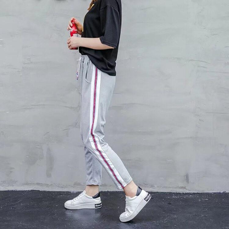 Musim Gugur Kasual Wanita Olahraga Harem Celana Kebugaran Kerja Yoga Menjalankan Celana untuk Wanita Olahraga (Gray)-Internasional