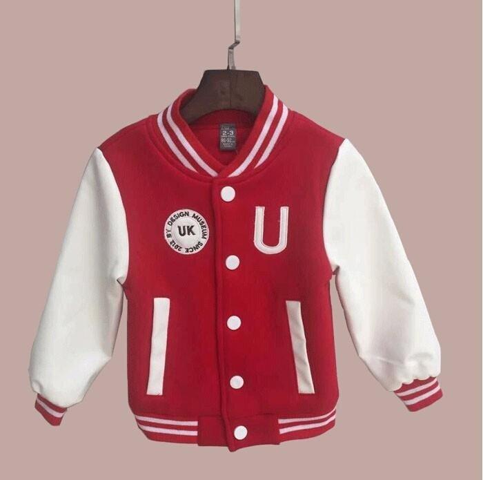 Baby Laki-laki Pakaian Anak Laki-laki Jaket Musim Semi Huruf Anak Laki-laki Lebih Tahan Dr untuk Anak-anak Merek Anak-anak Mantel untuk Anak Lelaki Bisbol Kapas-Intl