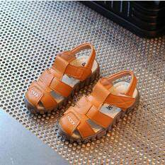 Baby Child Boys Kids Summer Leather Sandals School Shoes Soft Sole High Quality I120 Color Brown By Crazy Store.