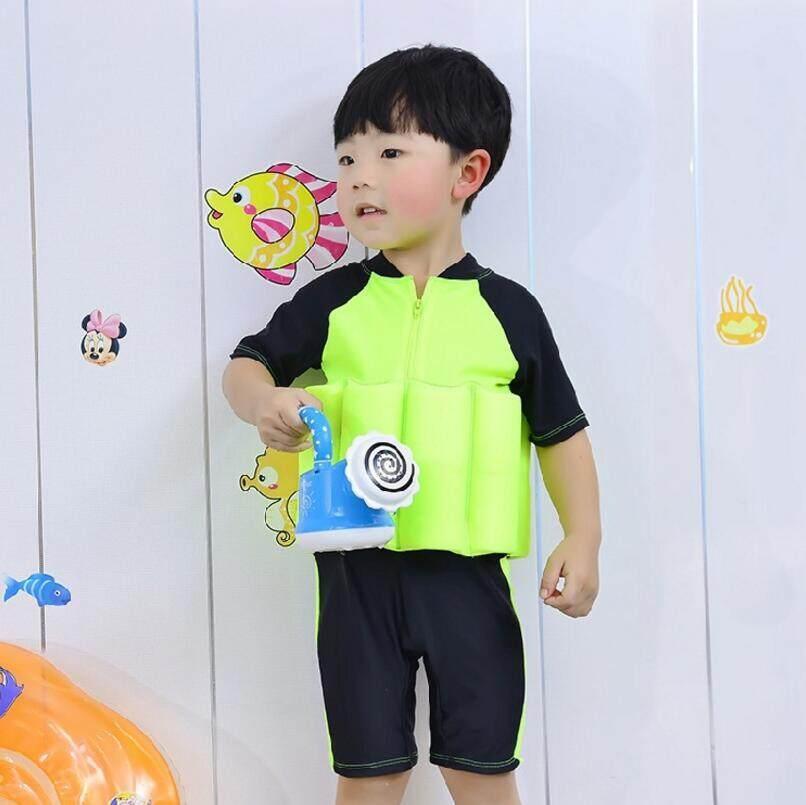 2fb666ae2db03 Baby Floating Swimwear Buoyancy Swimsuit Boy Girl Swim Vest Safe Drifting  Detachable Training Swimming Float Suits