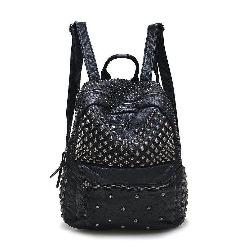 8690eb3aa569 Backpack bags 2017 new package rivet backpack fashion leisure travel bag  students schoolbag for gril large