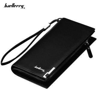 Baellerry Men Long Wallet Multi-functional Zipper Handle Bag European and American Men's Hand Bag Black (MY)