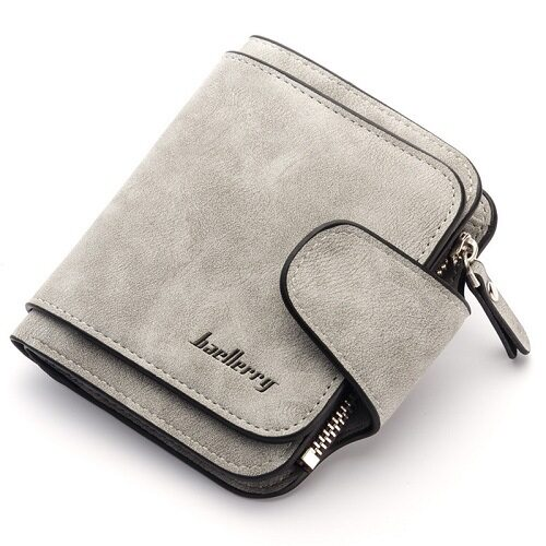 Baellerry newest style women's scrub PU leather antique Short section Three folds wallets purses clutches for