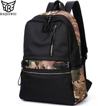 BAIJIAWEI Oxford Backpacks Men s Fashion Backpack   Travel Bags School Bags  Waterproof Camouflage Backpack Mochila Feminina 4a3459c4dd1ad