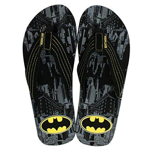 Batman Batman Mens City Print Flip Flops - intl
