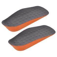 Giá bán Belle Comfortable Men Woman PU Invisible Inside Pain Relief Increased High Insoles Grey And Orange