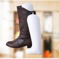 Giá bán Belle Inflatable Long Boot Shoe Stand Holder Stretcher Support Shaper Plastic White