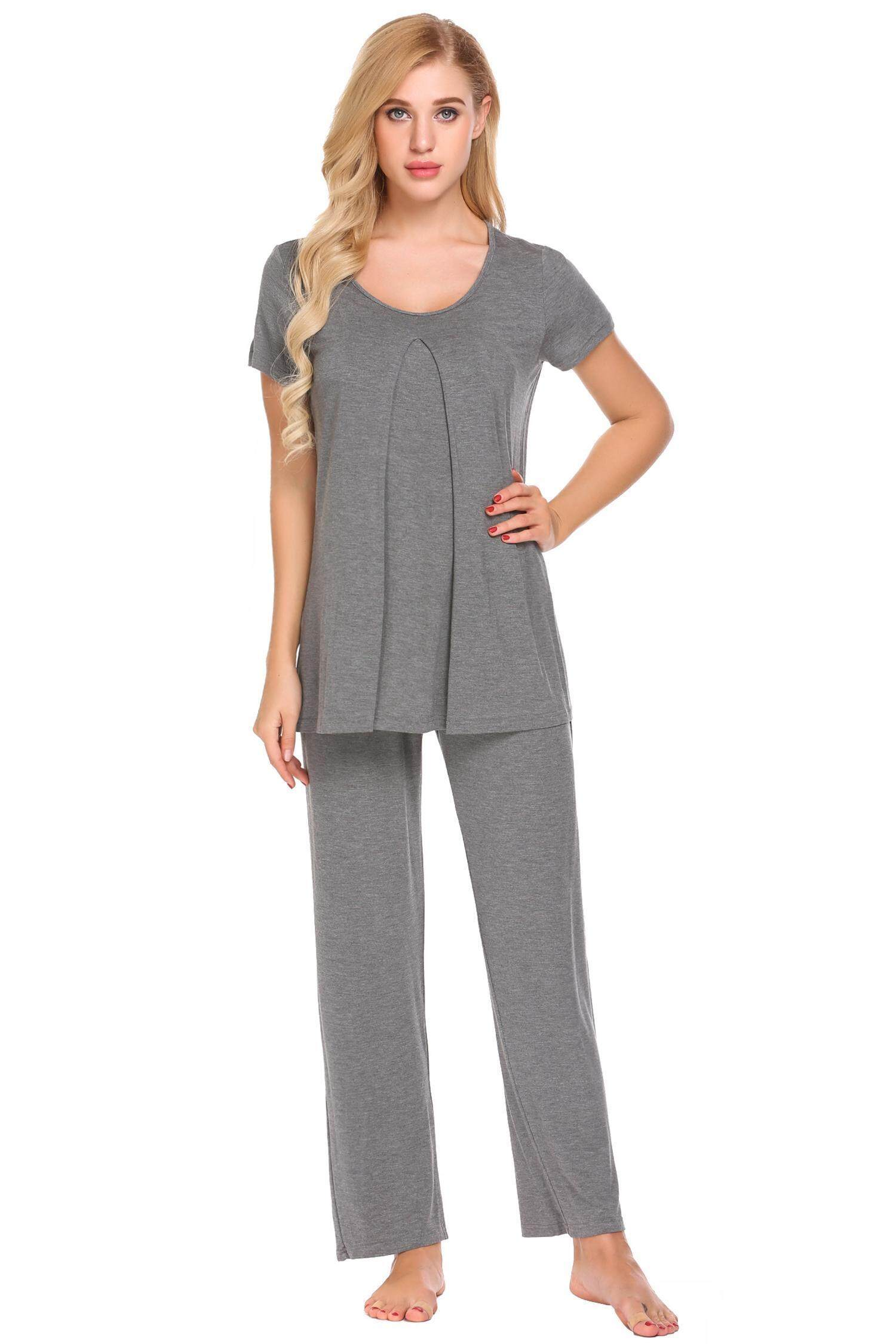Purchase Best Seller Astar Maternity Sleepwear Short Sleeve Blouse Pants Nursing Pajama Set Intl Online