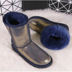 Blivtiaeclassic Luxury Sheepskin Boots Women Winter Snow Boots Middle Calf Boots Girl Warm Genuine Leather Natural Wool Sheep Fur Boots By Teen Spirit.