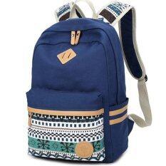 Ethnic Women Backpack for School Teenagers Girls Vintage Stylish School Bag Ladies Canvas Backpack Female Back Pack
