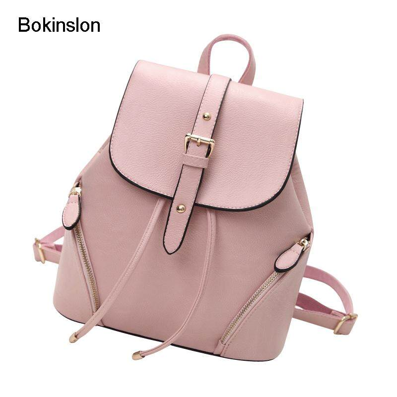 45ecc5ecbd Bokinslon Womens Backpack Fashion Cow Split Leather Girl Backpack School  Casual All-Match College Wind