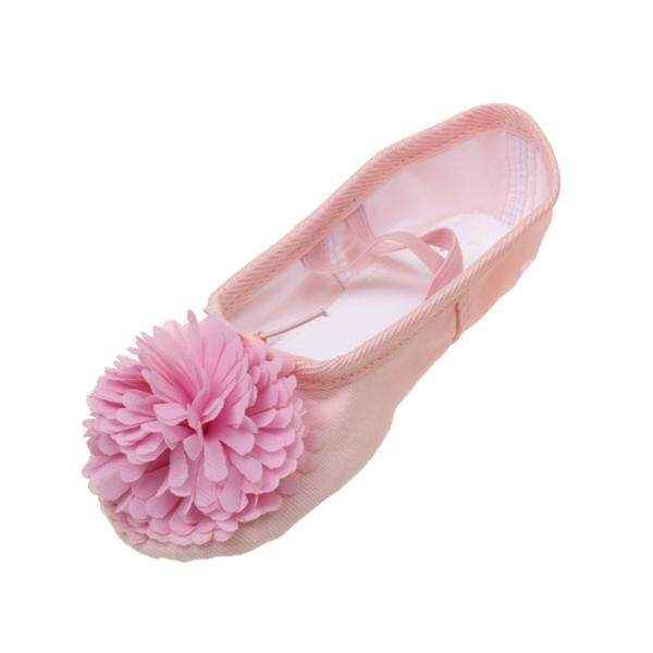 Bolehdeals Dance Ballet Yoga Canvas Leather Split Sole Shoes For Child Girls Pink 30 - Intl By Bolehdeals.