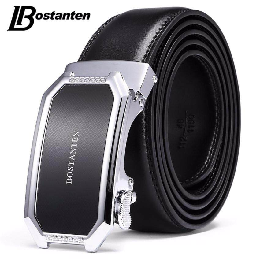 Bostanten Men's Genuine Cow Leather Belts Black With A Gift Box(Buy one get one