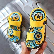 Boys Girls Jelly New Summer Stars Sandals Casual Non-Slip Rubber Shoes Unisex I114 Yellow By Crazy Store.