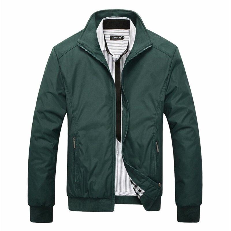 Brand clothing Men's Bomber Polo Windbreaker Jackets 2018 Sportswear Waterproof Casual Outwear mens jackets and coats