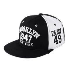 1947 Brooklyn Gaya Bisbol Cap Olahraga Topi Snapback Kualitas Bagus Hip-hop Cap Black-