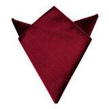 Men Suit Pocket Square Towel Handkerchief (Wine Red)