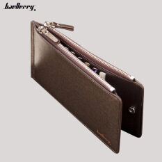 BYT Baellery Creative 2in1 Twins Men Leather Wallet with 2 Zipper Money Purse Clutch Hand Bag