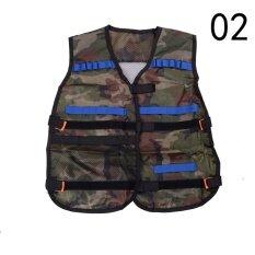 Camo Nerf Tactical Vest Jacket Ammo Holder N-Strike Elite Pistol Bullets Toy Green