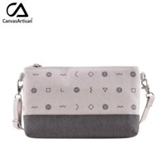 Canvasartisan Brand New Women Canvas Clutch Bags Envelope Organizer Purse Female Small Beautician Cute Stylish Shoulder