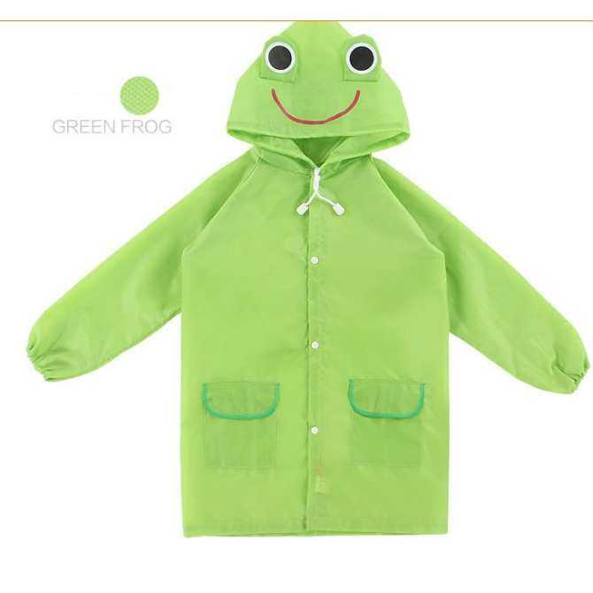Cartoon Animal Modeling Children Raincoats Children Cartoon Waterproof Raincoat Mackintosh - Green - intl