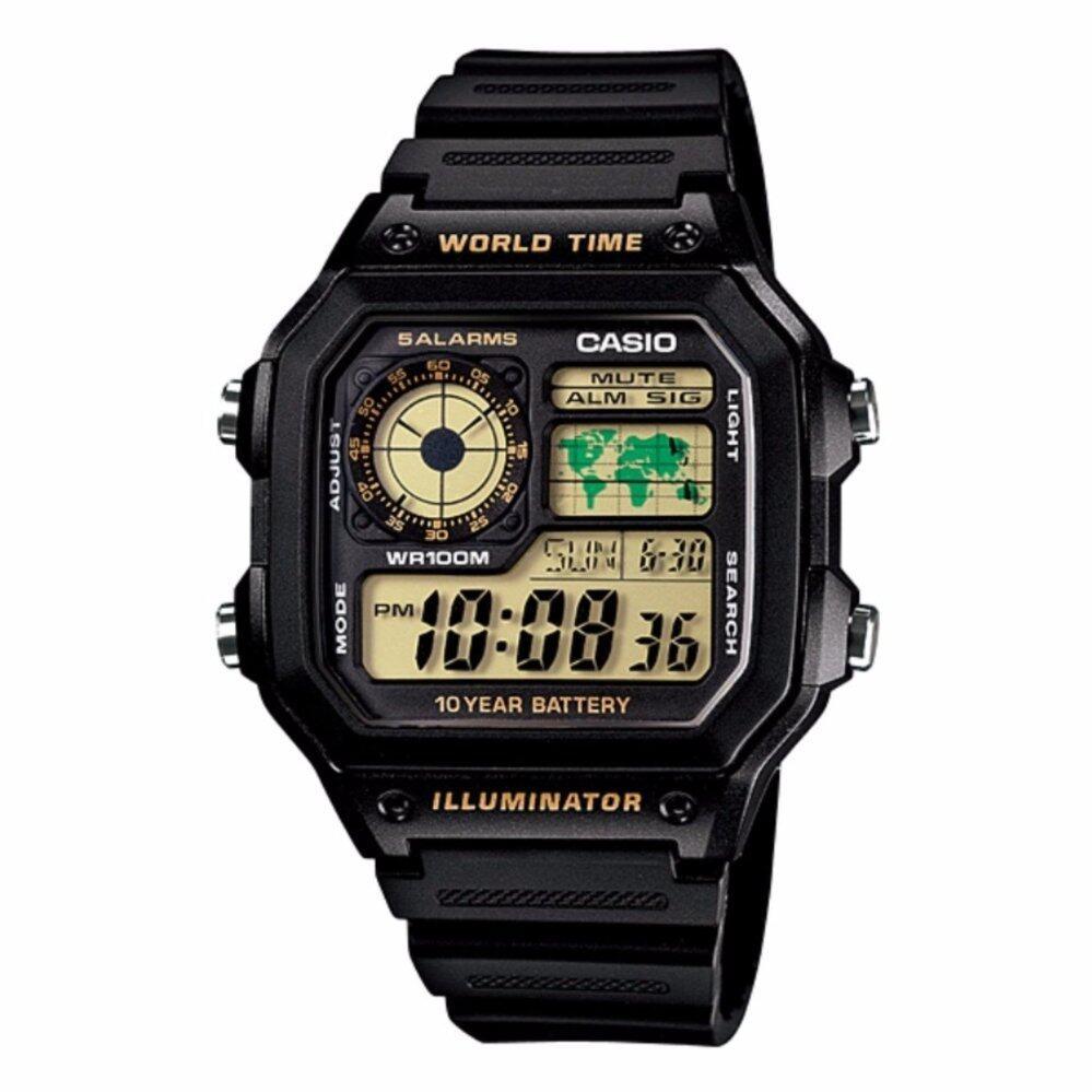 Casio AE-1200WH-1BVDF / AE-1200WH-1BVD / AE-1200WH-1BV / AE-1200WH-1B / AE-1200WH Original & Genuine Watch Malaysia