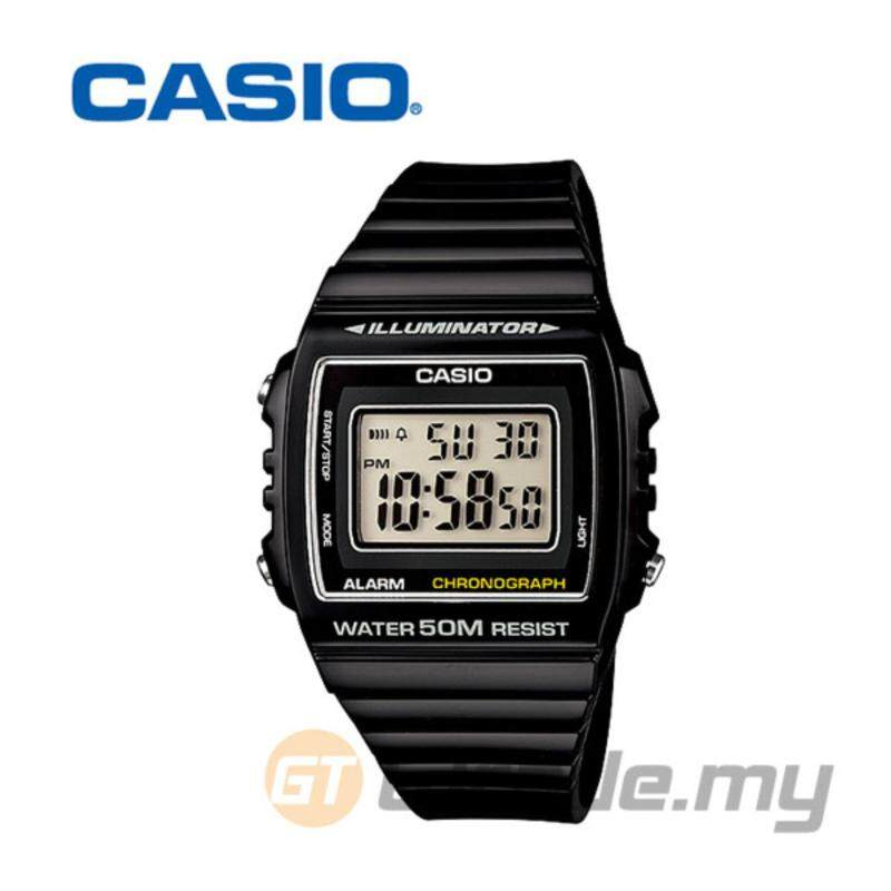 Casio Standard Mens Black Resin Strap Watch W-215H-1AV Malaysia