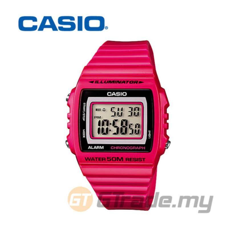 Casio Standard Mens Pink Resin Strap Watch W-215H-4AV Malaysia
