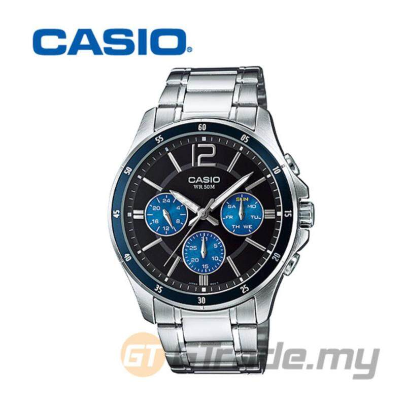 CASIO STANDARD MTP-1374D-2AV Analog Mens Watch - Date Day Display Malaysia