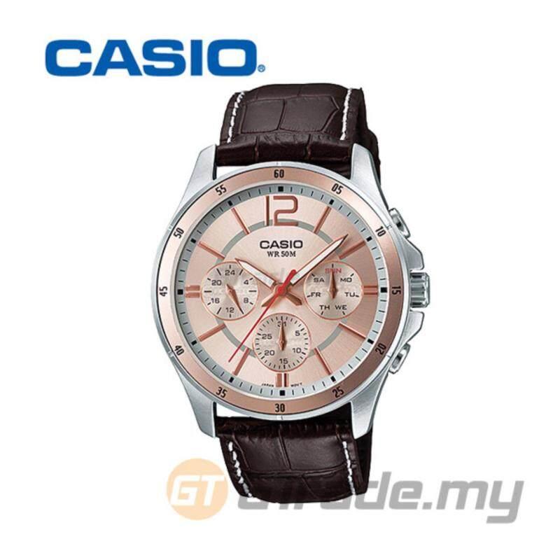 CASIO STANDARD MTP-1374L-9AV Analog Mens Watch Date Day Display Malaysia