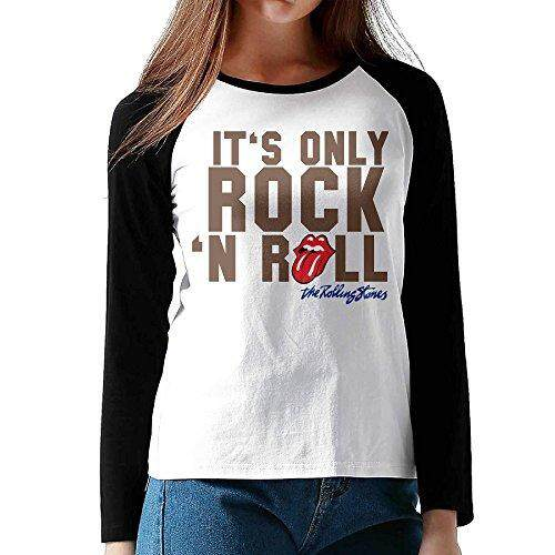 CAZUOSI Women's 1The Rolling Stones.png Long Sleeve Baseball T-Shirt - intl