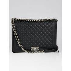Chanel Quilted Black Boy Lambskin Bag