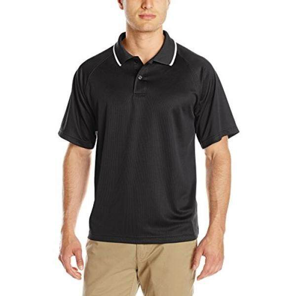 Charles River Apparel Mens Classic Wicking Polo, Black, - intl