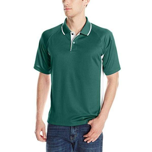 Charles River Apparel Mens Color Blocked Wicking Polo, Forest/White, - intl