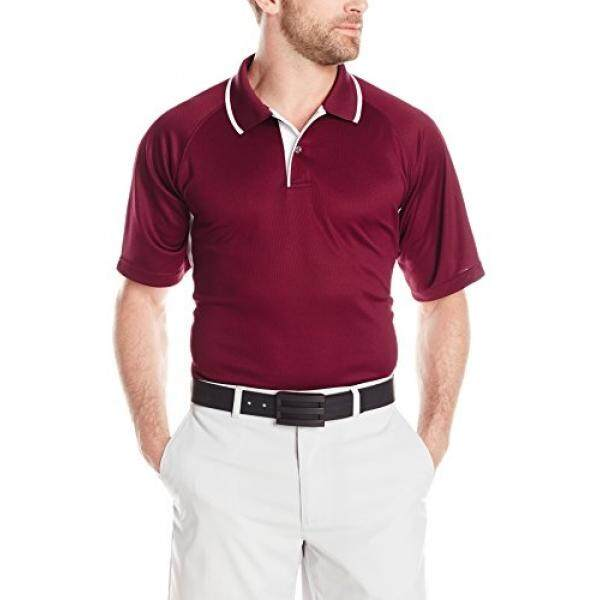 Charles River Apparel Mens Color Blocked Wicking Polo, Maroon/White, 5 - intl