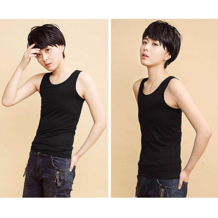 HUADE Chest Binder Flat Slim Vest Tomboy Cosplay 5Xl Les Breast Corsetcotton Long Camisoles(Int:S) - intl