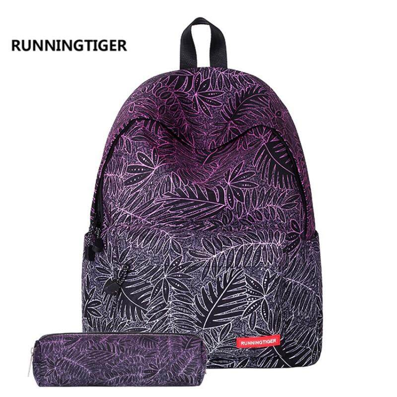 Children School Bags Canvas Women Backpack Fashion Printed Travel Bags  Teenagers Mochila Escolar with Pencil Bags 1a4ae32c08665