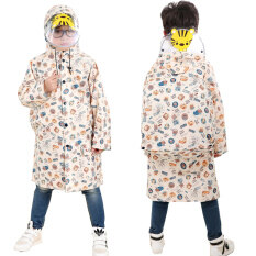 Childrens Raincoat Waterproof Double Brim Poncho Outdoor Rain Coat With Schoolbag Position(beige Size:xxl) By Priss Store.