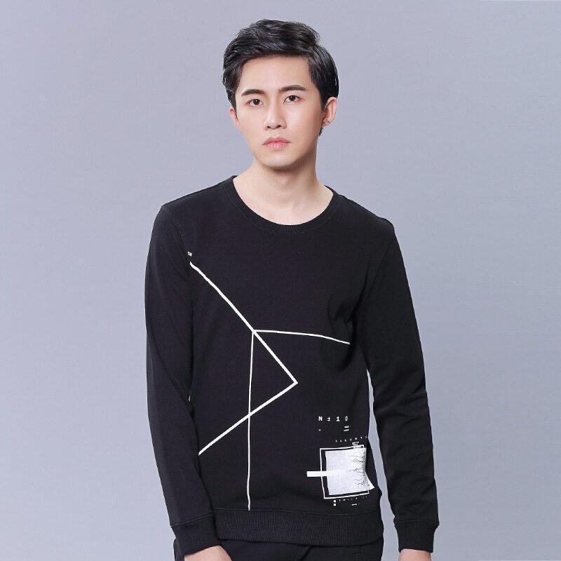 Tiongkok Indonesia Pria Sweater Grosir 2018 Meters Tinggi Baru Korea Modis Pria Lengan Panjang Sweater Pola-Internasional