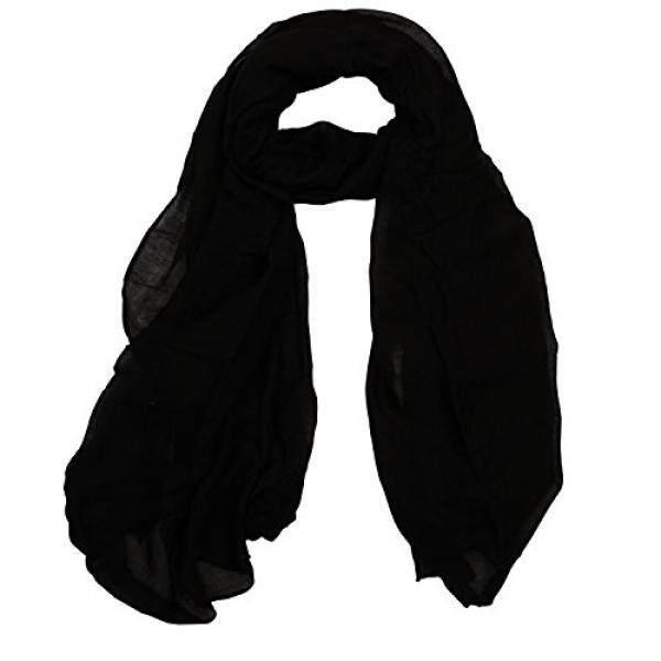 Cityhome-1PC Warna Polos 30% Katun Syal Bungkus untuk Wanita Ringan Scarves Selendang Sekitar