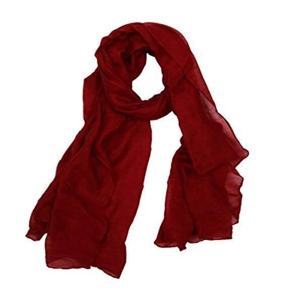 Cityhome-1PC Warna Solid 30% Syal Katun Bungkus untuk Wanita Syal Ringan Shawl About