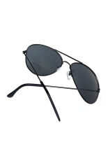 Classic Aviator Metal Designer Sunglasses (black) By Bpfair.