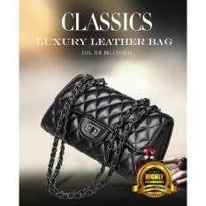 Malaysia Classic Luxury Pu Leather Clutch Bag Black