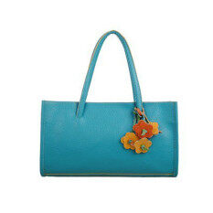 Coconiey Fashion girls handbags leather shoulder bag candy color flowers tote Blue Free shipping
