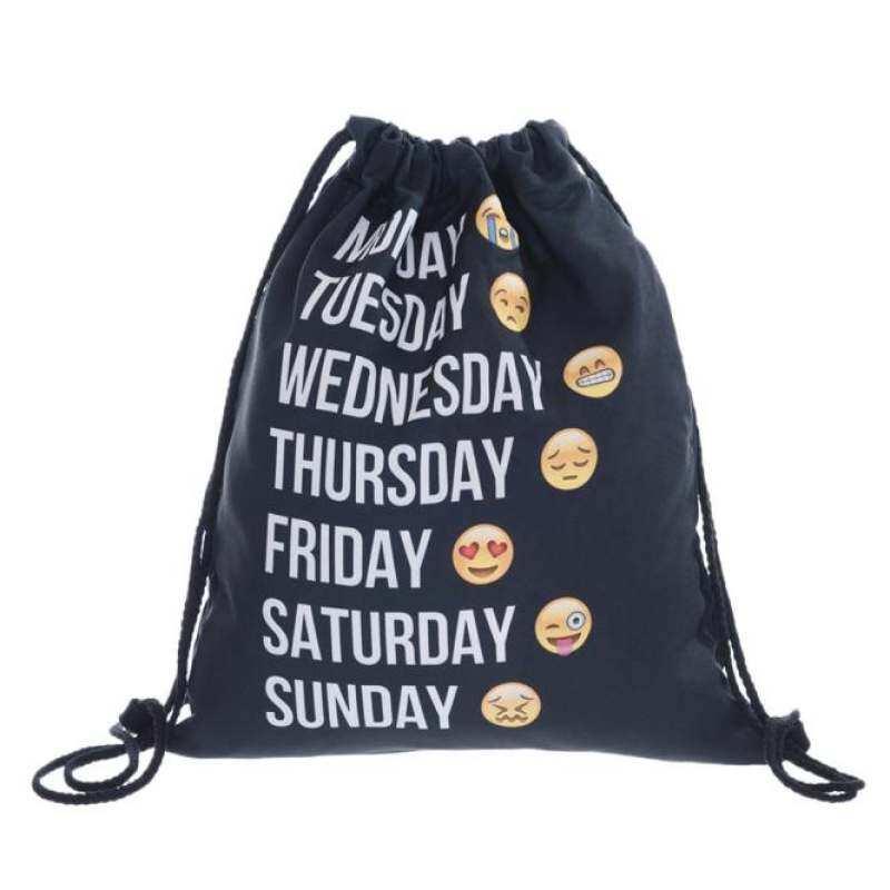 Coconiey Unisex Emoji Backpacks 3d Printing Bags Drawstring Backpack Black By Shenzhen Wen Zhuang Technology Co Ltd.