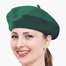 Vintage Solid Color Beanie Hat Classic Berets Dark greenMYR20. MYR 20.