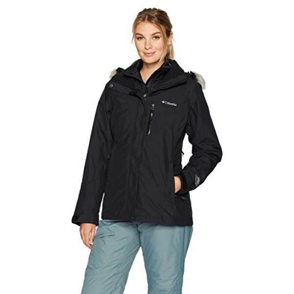 Columbia Wanita Lhotse Interchange Jaket, Hitam,-Internasional