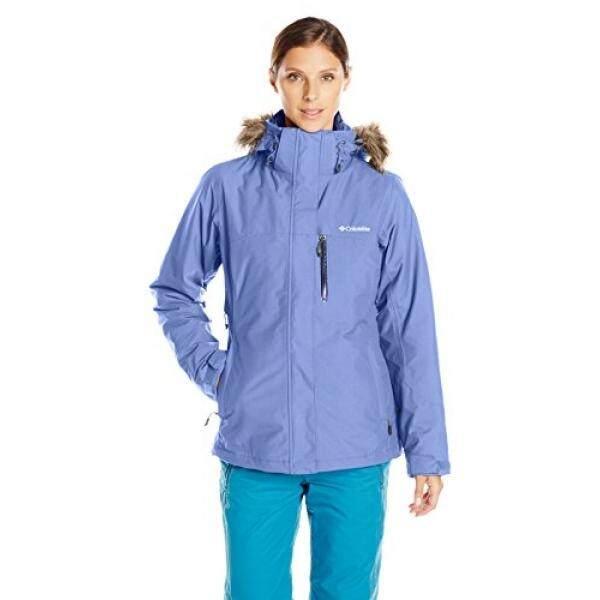 Columbia Wanita Lhotse Interchange Jaket, Bluebell,-Internasional
